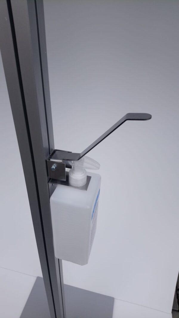 aluminium desinfectiezuil zijkant